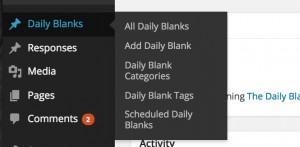 dailyblank admin menu