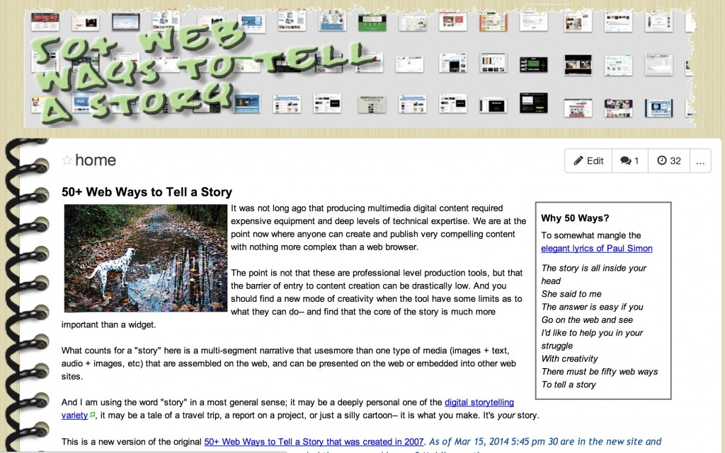 50 Web Ways to Tell A Story (2007- )