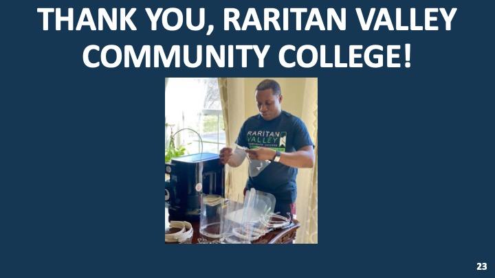 Thank you to Raritan Valley College