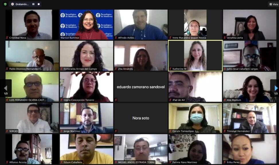 """Conferencia Magistral internacional """"Contribuciones de los Recursos Educativos Abiertos para los objetivos de la agenda UNESCO 2030"""" impartida por la Dra. María Soledad Ramírez Montoya, como clausura del curso Internacional \\"""
